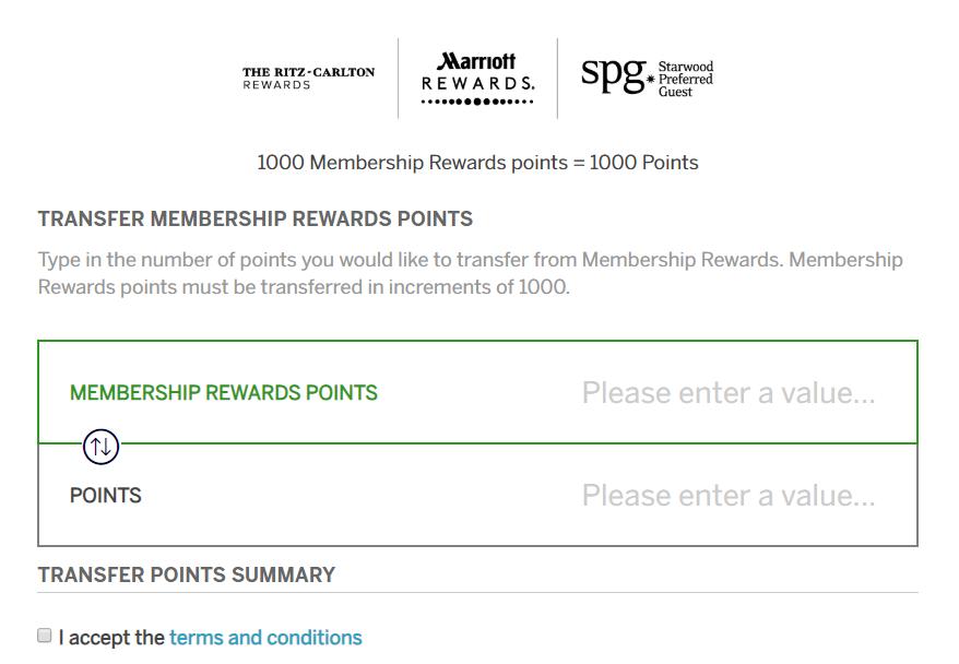 Amex Membership Rewards Transfers To Marriott Rewards