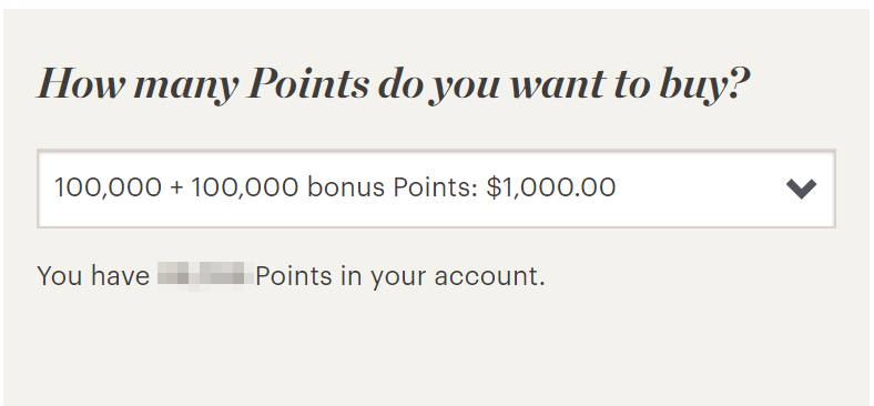 IHG purchase points promotion