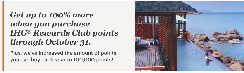 Buy Points IHG points with a 100 bonus