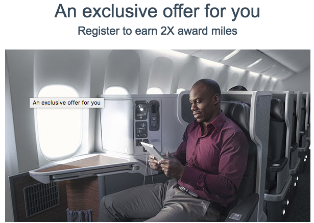 Earn Double miles with AA