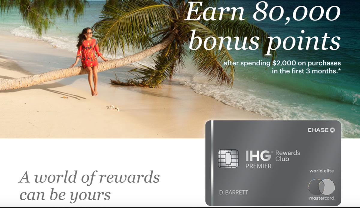 IHG Rewards Club Premier Credit Card 80k Offer