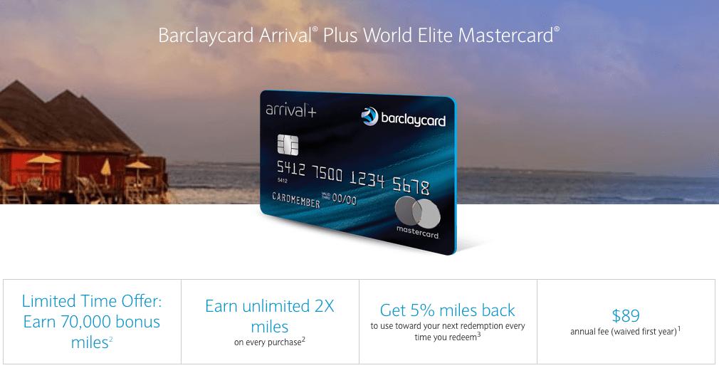 Barclaycard Arrival Plus 70k