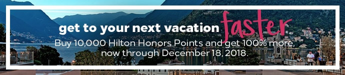 Buy Hilton Points 100 Percent Bonus through December 18 2018