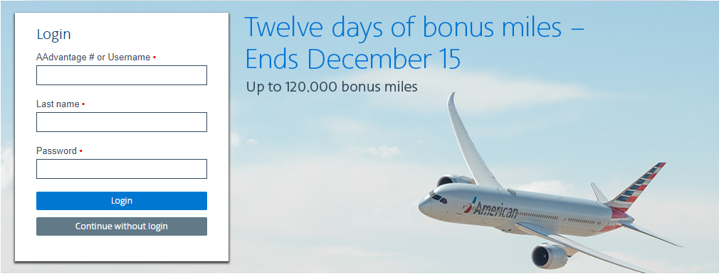 Buy AA miles Promotion