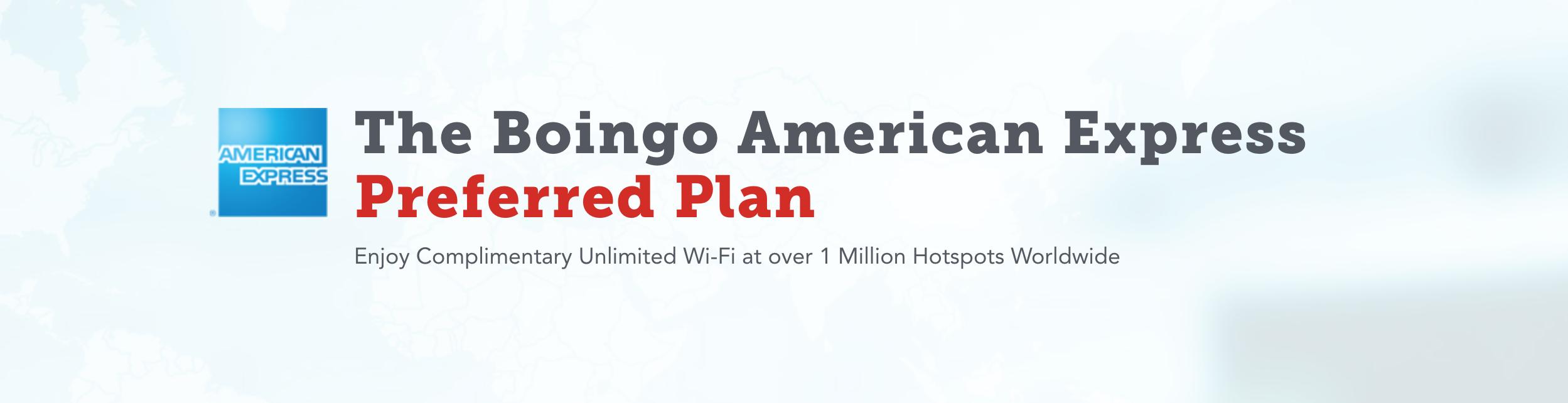 Amex Boingo Preferred Plan
