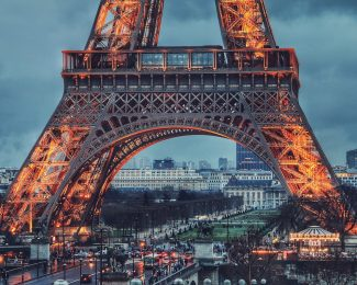 Paris Eiffel Tower Evening