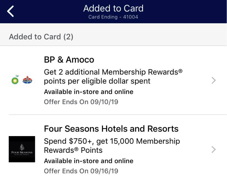 Earn Membership Rewards with Amex Offers