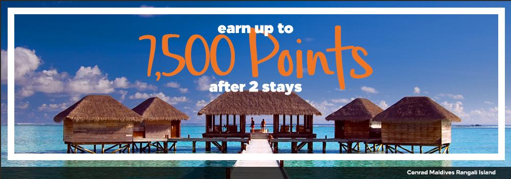 Verdien tot 7.500 Bonus Pionts voor nieuwe Hilton Honors leden (Bron: Hilton Honors)