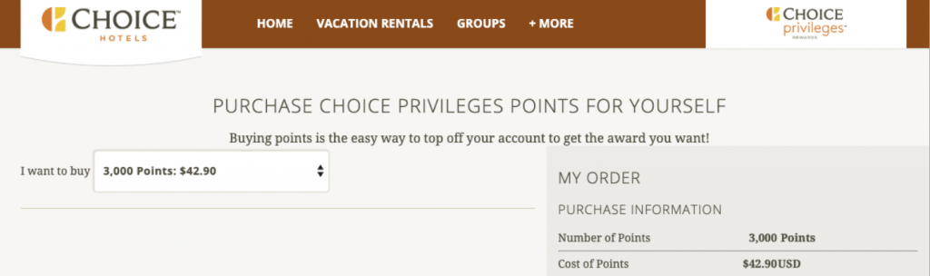 Transfer Membership Rewards points to Choice Privileges