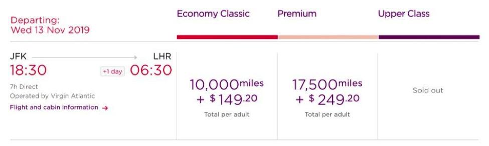 Transfer Citi ThankYou Points to Virgin Atlantic Flying Club