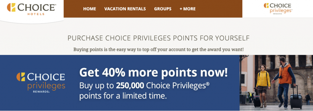 Buy Choice Points with 40 Bonus