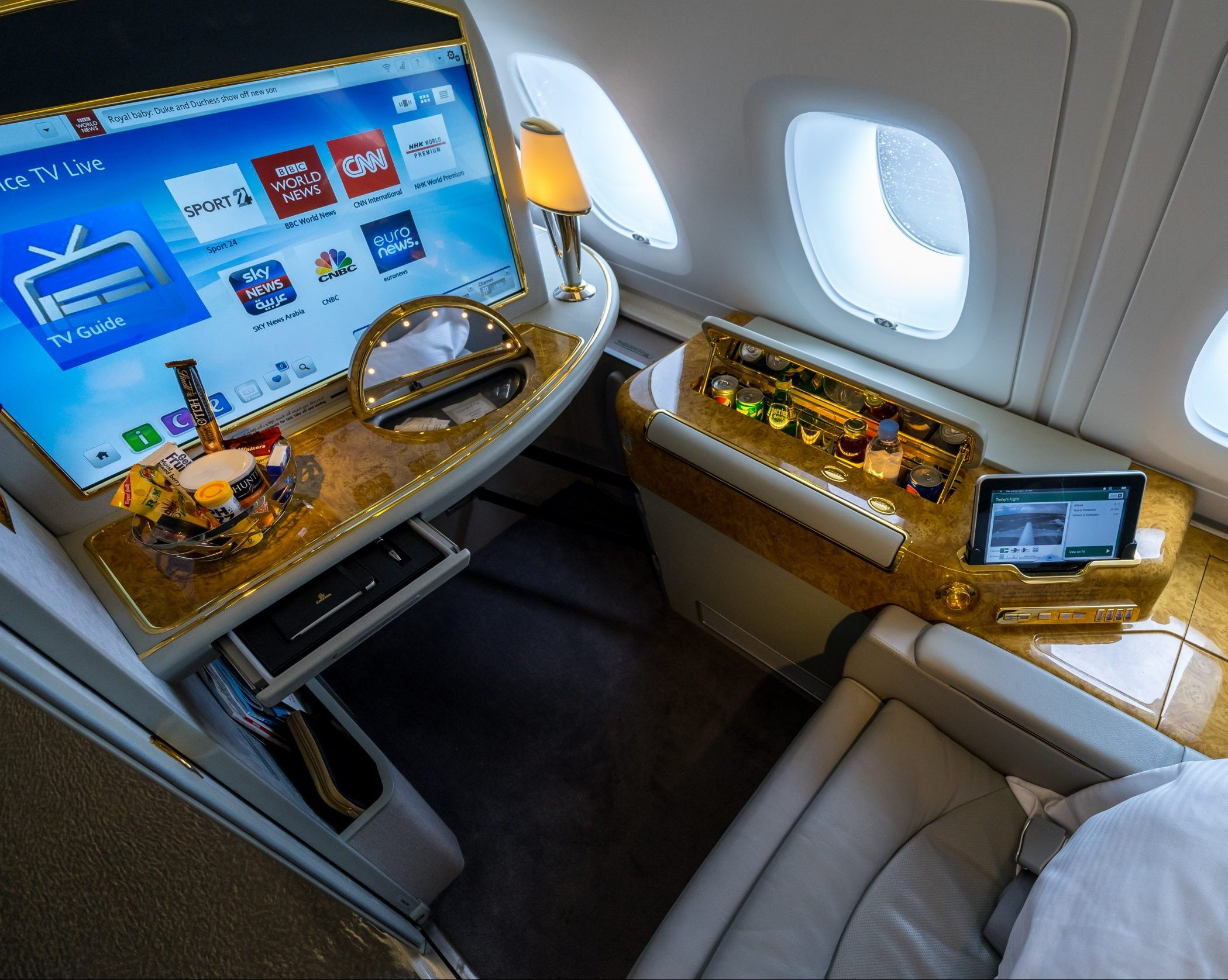 Emirates Airline First Class Seat
