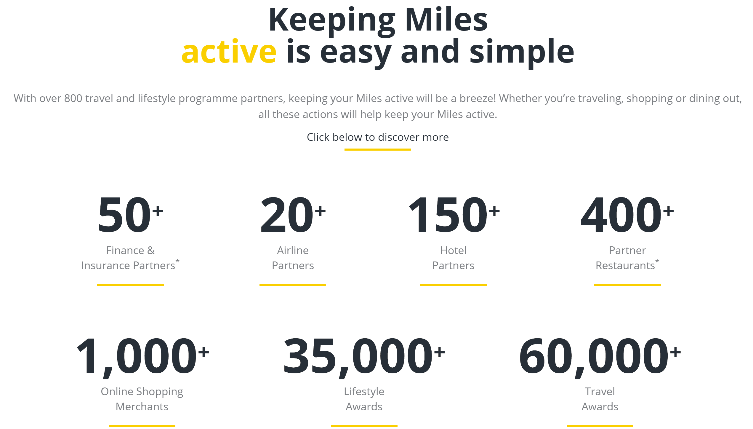 Asia Miles partner options
