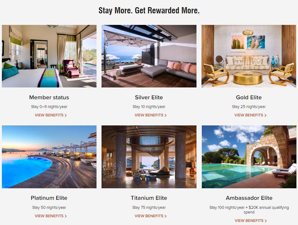 Six Marriott Bonvoy Member Status Levels