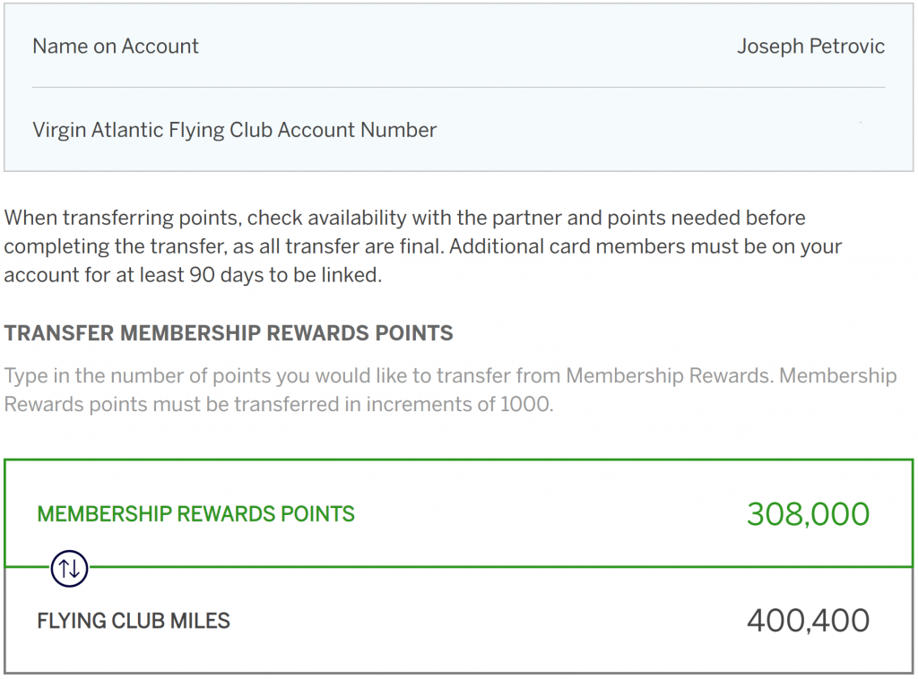 30% Transfer bonus comes in handy again