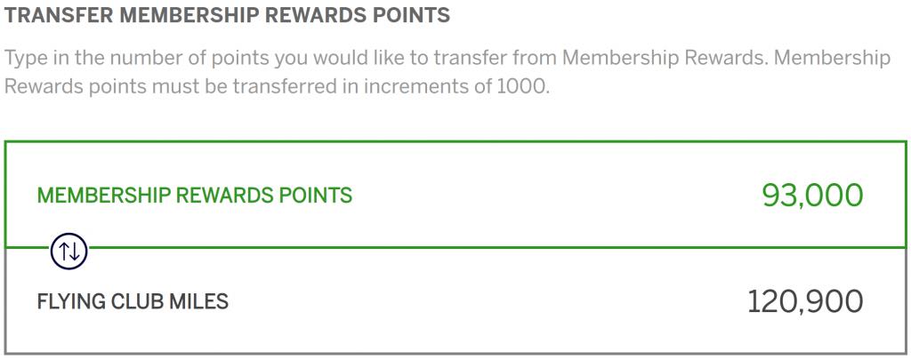 Transfer bonus saves