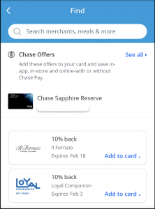 How to find chase offers on Chase Pay app