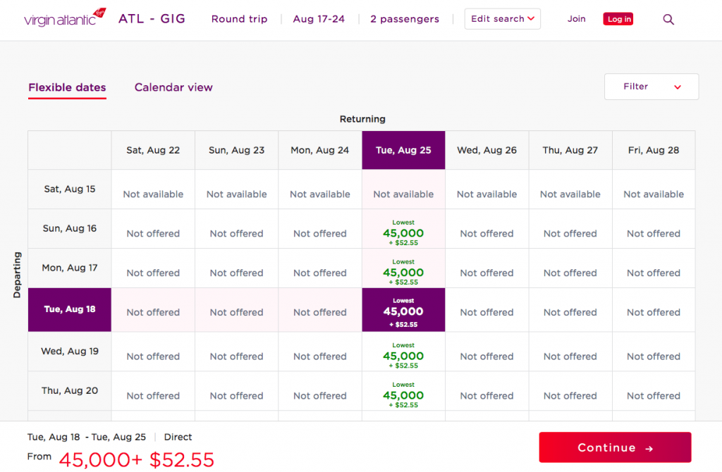 Book Delta flights with Virgin Flying Club miles for cheaper redemption rates