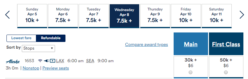 How to book refundable Alaska Mileage Plan Awards