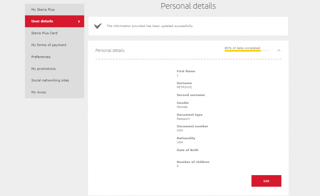 Troubleshooting the DOB entry on Iberia Plus registration page
