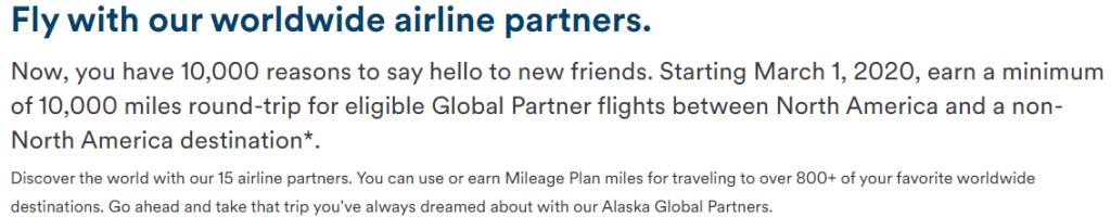 Alaska Airlines 10K Partner Promo