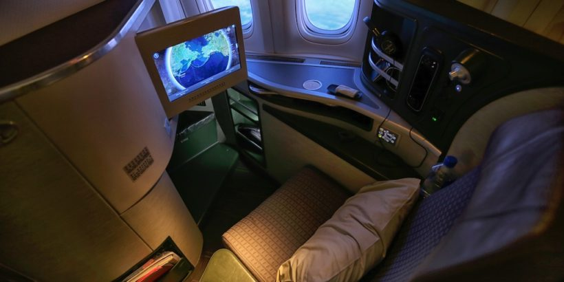 Business class on EVA airways using LifeMiles