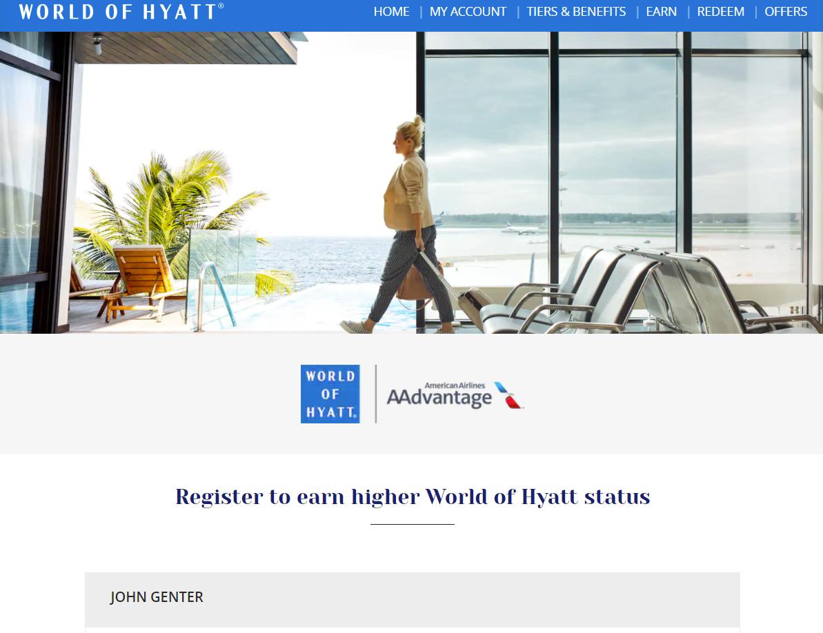 American Airlines Hyatt fast-track offer