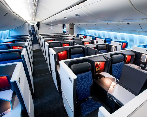 Get upgraded to Delta One as a benefit of Delta elite status