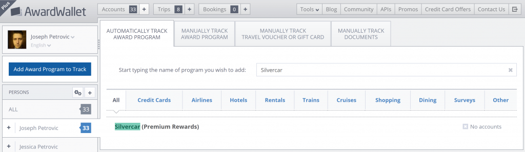 Automatically track Premium Rewards