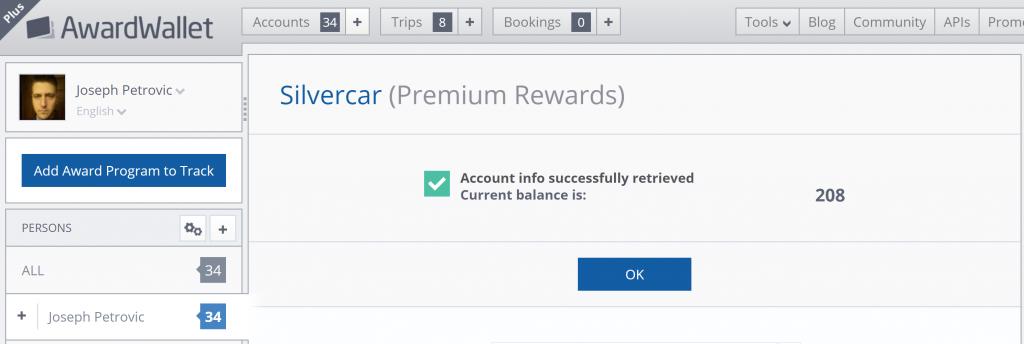 Premium Rewards added to AwardWallet