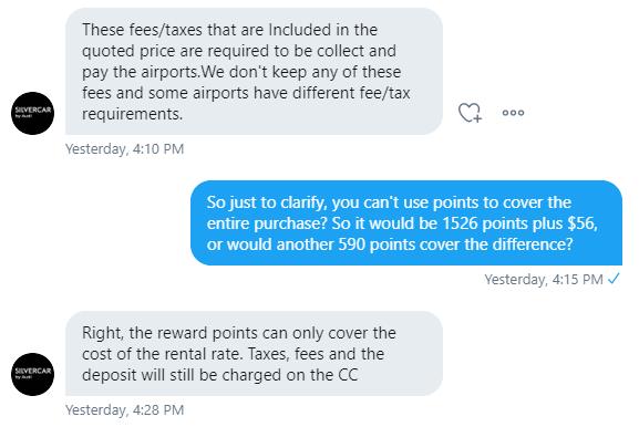 Silvercar Twitter response