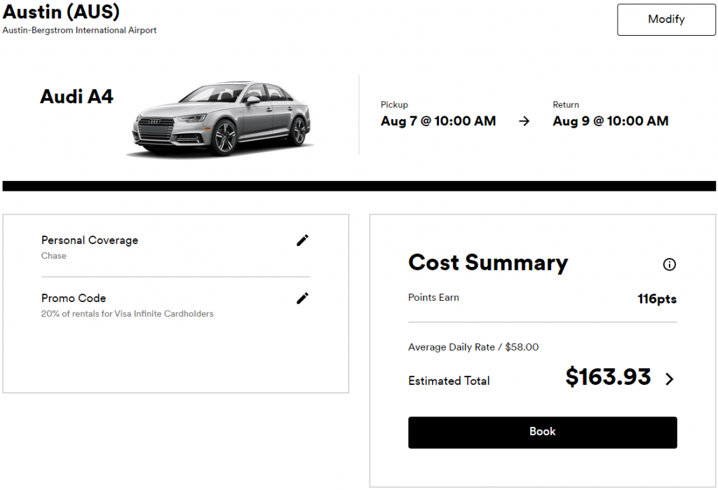 Silvercar booking with discount code