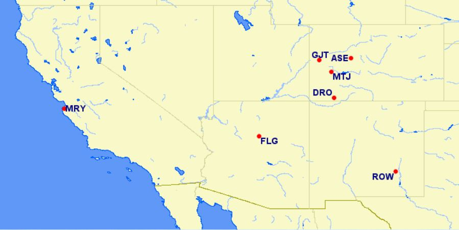 american airlines reduced mileage awards - southwestern U.S.