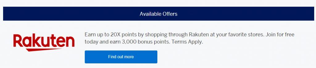 Rakuten 3000 Points Info