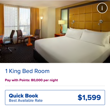 Why pay $1,599 when you can buy hilton honors points?