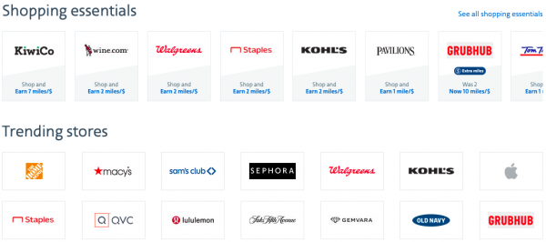 American Airlines Shopping partners