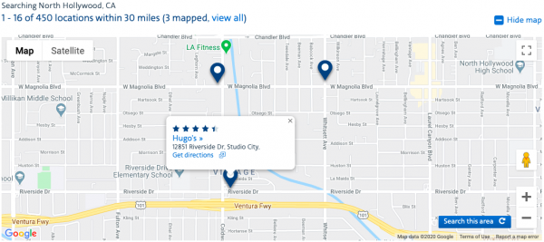 aadvantage dining restaurants map view