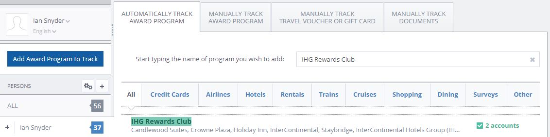 IHG Rewards login