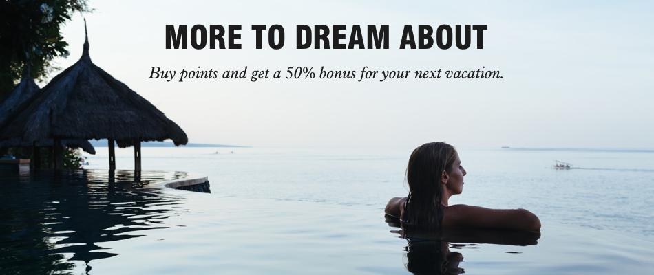 Buy Marriott points with a 50% bonus