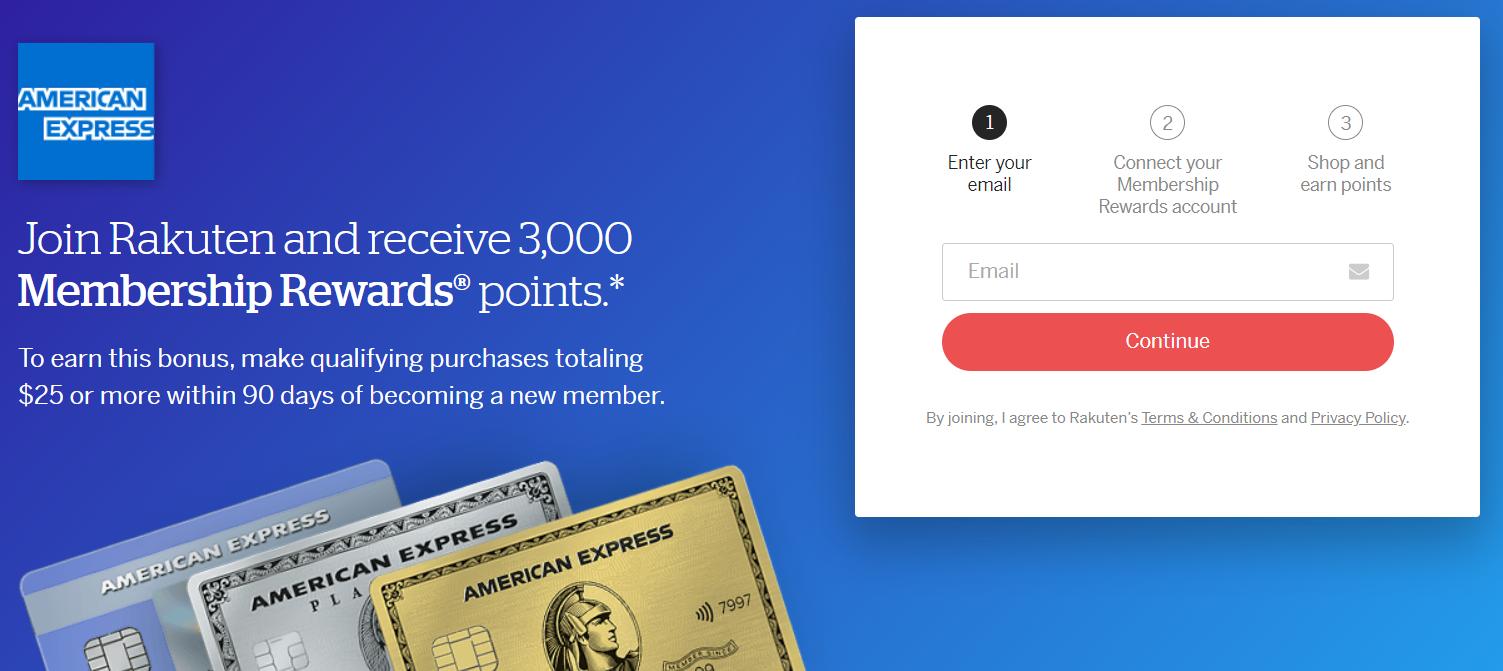 rakuten ebates is offering 3,000 membership rewards for new accounts