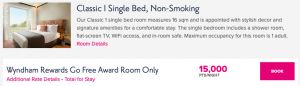 Get this room for just $150 by buying Wyndham points