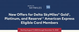 Delta SkyMiles new offers 2020