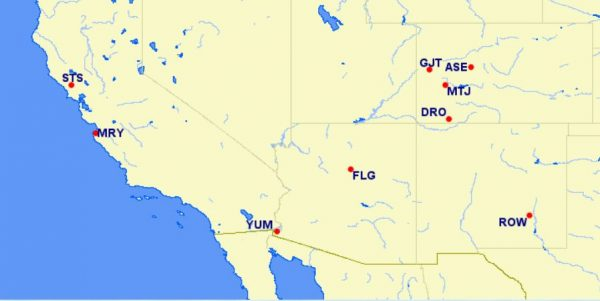 aa reduced mileage awards - southwestern US - August