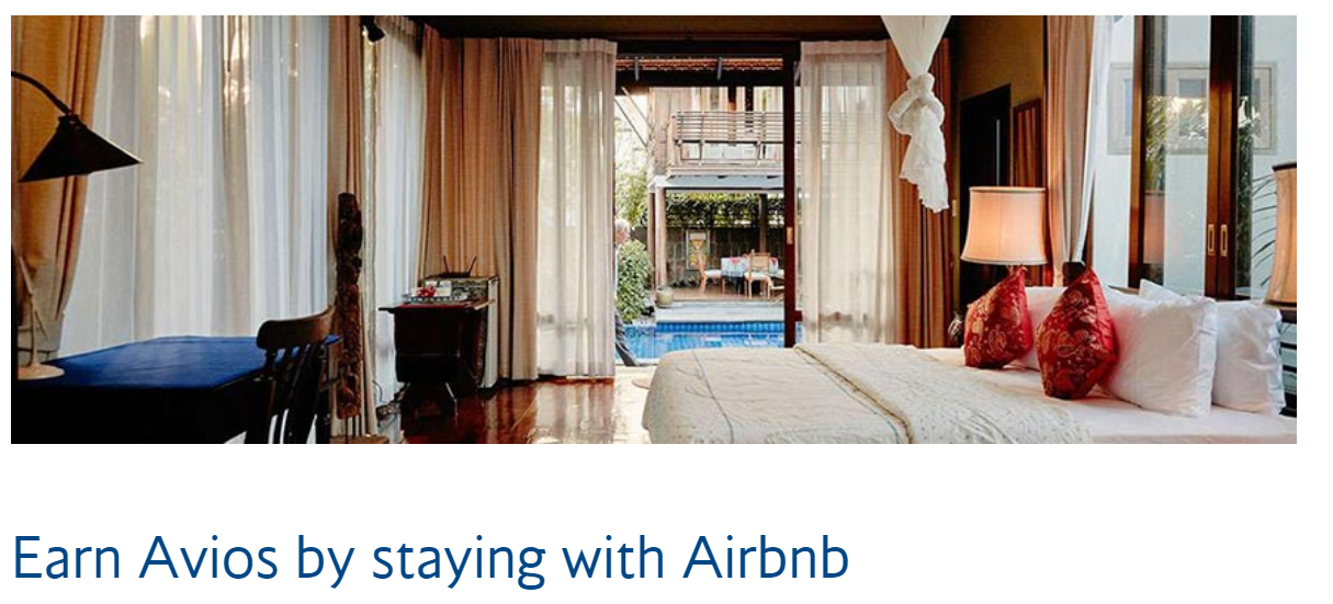 Earn Avios by staying with Airbnb