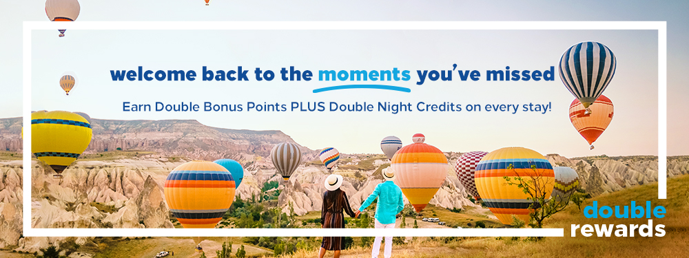 Double Rewards Hilton Promotion banner