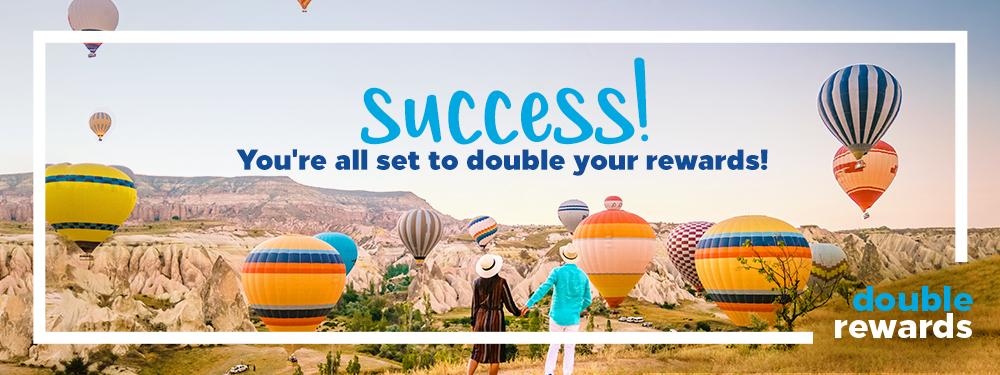 Double Rewards Hilton Promotion registration confirmation