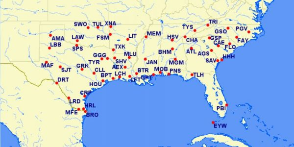 aa reduced mileage awards - southeastern US - October