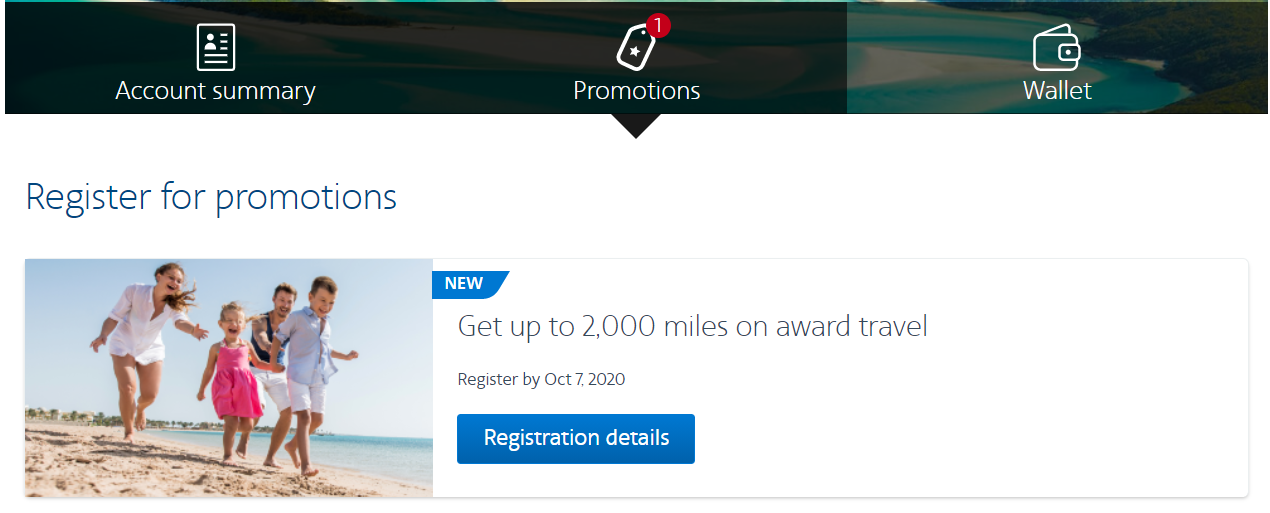 You can find this American Airlines promo in your AAdvantage Promotions tab