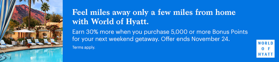 buy Hyatt points with a 30% bonus now through November 24