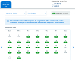 American Airlines AAdvantage Web Special awards 5,000 miles Indianapolis to Bozeman